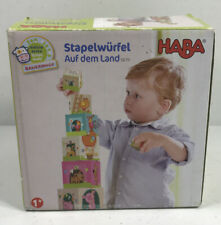 Haba On the Farm Sturdy Cardboard Nesting & Stacking Cubes - Reinforcing Numb.