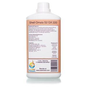 1L Shell Omala S2 GX 220 (Omala 71) ISO VG 220 EP Gear Oil