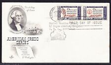"""USA """"Artcraft"""" 1960 Credo Series Washington PAIR   First Day Cover with cachet"""