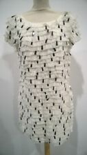 French Connection Size 12 Rushes & Reeds Frill Antique Lace Dress RRP £190 #570