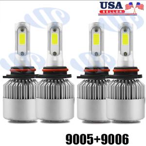 4pcs 9005 9006 LED Headlight Kit HB3 9145 9140 Fog Light 1400W 6000K Power Bulb