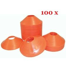 100 ORANGE SPEED DISC CONE Sports Safety Soccer Football Training Track Agility