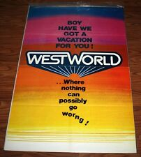 "RARE Advance Original ""WESTWORLD"" 1sh MOVIE POSTER, Blu DVD, COA, UACC RD#228"