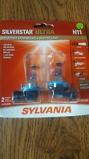 New listing Sylvania Silverstar Ultra H11 High Performance Headlight 2 Bulbs Brand New!