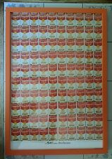"Andy Warhol ""Campbell's 100 Soup Cans"" Litho/Poster, Professionally Framed"