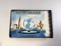 New York 1964-65 World's Fair Unisphere Ashtray Vintage Ceramic Rectangle