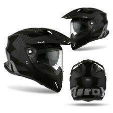 L Large AIROH Commander Lightweight Full Carbon Dual Sport Adventure Helmet