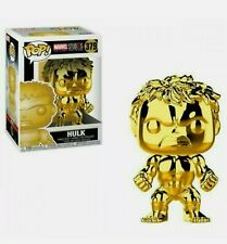 Funko Pop! Marvel Studios: The First Ten Years CHROME Gold Hulk #379