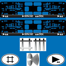 2 License Plate Holder Vehicle Car EU Number Bracket DEPECHE MODE Delta Machine
