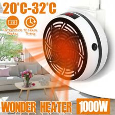 1000W Heater Timing White Winter Household Warm Air Blower Portable Energy Save
