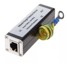 Semoic RJ45 Prise Réseau Ethernet Parasurtenseur sol Thunder parafoudre 100MBs