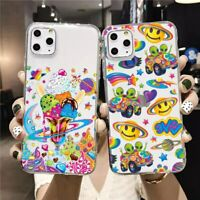 Lisa frank soft Silicone clear cover phone case iPhone 6s 7 8 Plus 11 Pro XS XR
