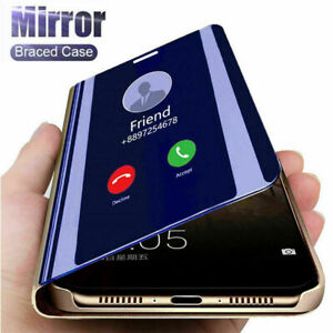 For Samsung S21 Ultra Plus Note 10 20 S10 S20 Smart View Mirror Flip Phone Case