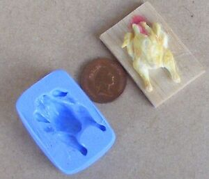 Reusable Preparing A Chicken On Board Silicone Mould Sugarcraft Food Safe Tumdee
