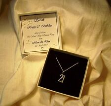 21st birthday gift sterling silver pendant  Personalised box jewellery