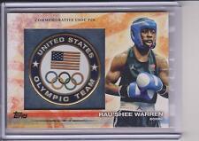 2012 TOPPS OLYMPIC RAU'SHEE WARREN USOC PIN CARD ~ BOXING