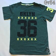 "Mens H&M ""BKYLN 36"" Size EUR 170 Green T Shirt P-P19"" Length 26"""