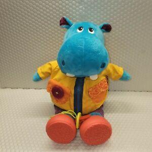 Battat- B. toys Interactive Plush Hippo Giggly Zippies - Hank