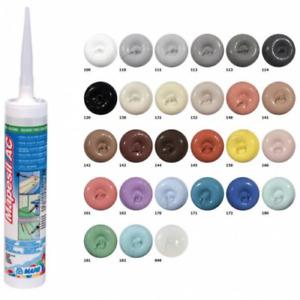 Mapesil AC Silicone Scellant Acide Acétique Coloré Joints 144 Chocolat 310 ML