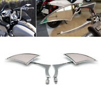Motorcycle Custom Blade Rearview Mirrors For Harley Davidson Touring Cruiser A