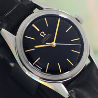 VINTAGE OMEGA AUTOMATIC 19 JEWELS CAL.471 BLACK DIAL ANALOG DRESS MEN'S WATCH