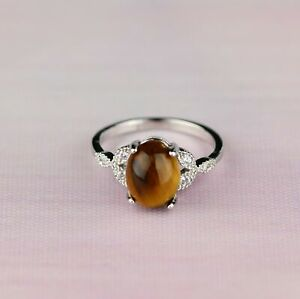 Gemstone Butterfly Ring White Gold Plated Amethyst Tigereye Carnelian Turquoise