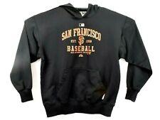 Majestic Black San Francisco Giants Hoodie Sweatshirt Size Large