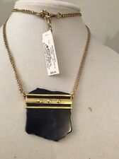 Lucky Brand Gold Tone Organic Lapis Necklace $55 #Y01a