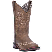 """Laredo Ivy 01-5677-BN120 Women's 11"""" Taupe Leather Comfort Cowboy Boots"""
