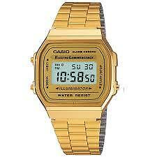 CASIO VINTAGE A168WG-9W GOLD PLATED WATCH FOR MEN AND WOMEN - COD +FREE SHIPPING