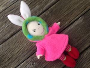 Puppenkleidung für mini Puppen Gr. 20 cm Mirle Mirli Miro OSTERHASI Hase Kleid