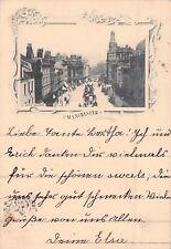 SELTEN alte Foto + Litho AK 1898 !!@ Manchester St, Ann's  Square@nach Stuttgart