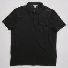 Men's Calvin Klein Jeans Polo Shirt, New Solid Black One Pocket Urban Shirt Sz L