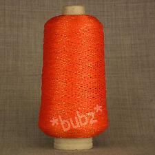 Orange viscose Paillettes 200g cône crochet cotton thread knit lurex fil éclat
