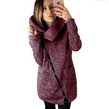 UK Plus Size Womens Autumn Casual Jacket Coat Parka Ladies Long Zipper Outwear