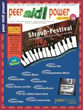 Peer Midi Power Vol10 Strauß-Festival Learn to Play MUSIC BOOK Keyboard