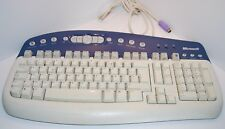 MICROSOFT CLAVIER FILAIRE PS/2 AZERTY FRANÇAIS MODEL : KB-0168.