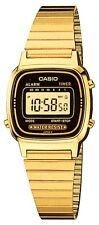 Casio Women's Digital Alarm Yellow Gold-Tone Bracelet 24.5mm Watch LA670WGA-1