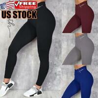 Women Seamless Yoga Leggings High Waist Push Up Sports Fitness Gym Pants Trouser