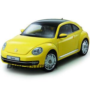 KYOSHO 1:18 2012 2013 VW VOLKSWAGEN BEETLE COUPE DIECAST MODEL SUN FLOW (YELLOW)