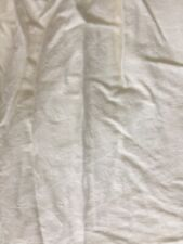 bed skirt twin Ivory Woven Damask Ivy Print 100% Cotton