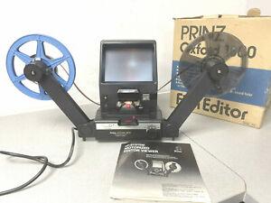 Prinz Oxford 1800 Motorised Super 8 Cine Film editor viewer with Quick Splicer