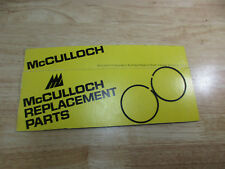 Genuine McCulloch 610 Chainsaw Piston Rings New Old Stock Thick
