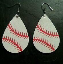 Baseball Leather Style Earrings Sports Fan Collectible Memorabilia Gift Present