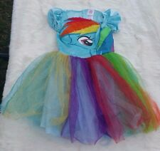 My Little Pony Costume Girls Sz M(7-8) Dress Up Blue with Sparkles Rainbow Dash