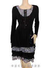 Robe C'FAIT POUR VOUS T 40 / 42 L / XL 3 / 4 Volant graphique laçage NEUF Dress