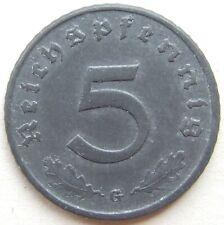 RARITÄT! 5 Pf 1944 G in VORZÜGLICH SELTEN !!!
