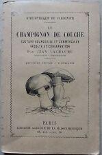 GASTRONOMIA/CUCINA: LACHAUME, LE CHAMPIGNON DE COUCHE
