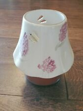Home Interiors Homco Floral Jar Candle Ceramic Shade Cutouts Topper Green Pink