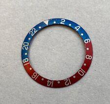 1960's-1970's Vintage Rolex GMT-Master ref.1675 Pepsi Fat Font Insert